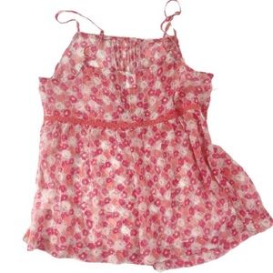 5 for $25 Old Navy Pin tuck Chiffon Camisole XS